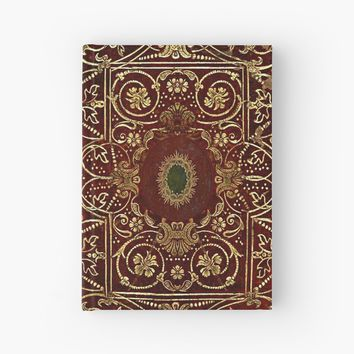 'Elizabethan Style Gilded Leather Old Book Cover' Hardcover Journal by JoolyA