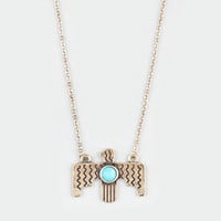 FULL TILT Turquoise Thunderbird Necklace 212458621 | Necklaces | Tillys.com