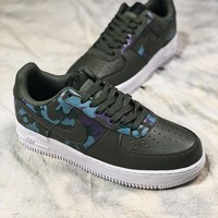 Nike Air Force 1 Lv8 Af1 Low Camo Green 823511-00811 Sport Shoes - Best Online Sale