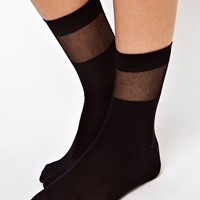 ASOS Sheer Stripe Sock at asos.com