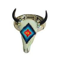 Tribal Pattern Steer Head Ring