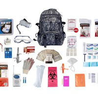 1 Person Elite Survival Kit (72+ Hours) Camo Backpack
