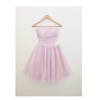 Vintage 50s Tulle Party Dress