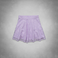 a&f high rise lace skater skirt