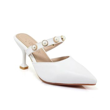 Pointed Toe High Heels Sandals Summer Shoes 6129