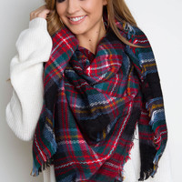 Brielle Blanket Scarf - Black
