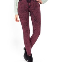 High Rise Acid Washed Jeans - 9