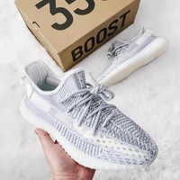 shosouvenir Adidas Yeezy 350V2 BOOST Fish silk white ash Gym shoes