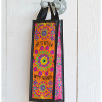 Natural Life Recycled Bag - Wine Is Better