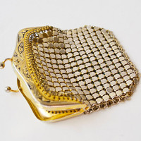 vintage gold metal purse