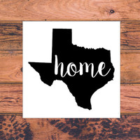 Texas Home Decal   Texas Decal   Homestate Decals   Love Sticker   Love Decal    Car Decal   Car Stickers   135