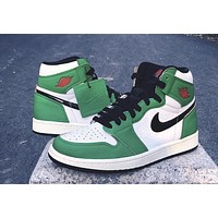 "Air Jordan 1 High OG WMNS ""Lucky Green"" sneakers basketball shoes"