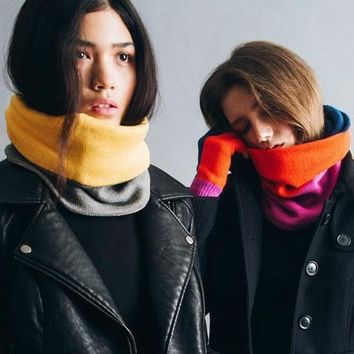 Colorblock Neckwarmer