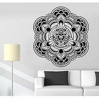 Wall Sticker Buddha Mandala Om Mantra Zen Lotus Meditation Vinyl Decal Unique Gift (z2918)