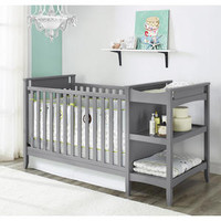 Emma Gray 2 in 1 Crib and Changing Table Combo