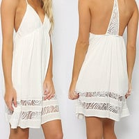 White Racerback Summer Dress