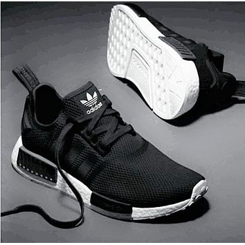 ADIDAS NMD men and women tide fashion casual sports running shoes F Black