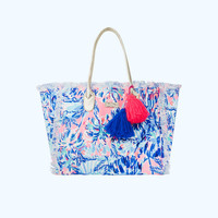 Gypset Frayed Beach Tote Bag | 27392-multicabanacocktailaccessories | Lilly Pulitzer