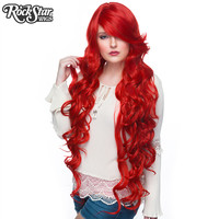 "Cosplay Wigs USA™  Curly 90cm/36"" - True Red -00335"