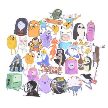 30pcs Adventure Time Cartoon Pvc Waterproof Sticker For Luggage Wall Car Laptop Bicycle Motorcycle Notebook Laptop Toys Stickers