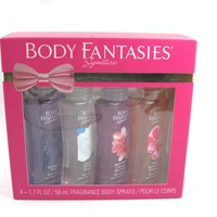 Body Fantasies Signature Assorted Body Spray 1.7 oz x 4 pcs Set