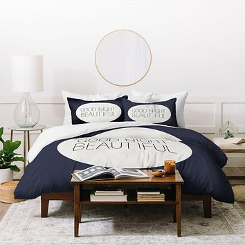 Allyson Johnson Good Night Beautiful Duvet Cover