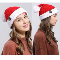 Christmas Party  Adult Santa Hat Red And White Xmas Cap for Santa Claus Gift