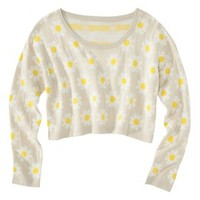 Xhilaration® Junior's Daisy Cropped Sweater - Assorted Colors