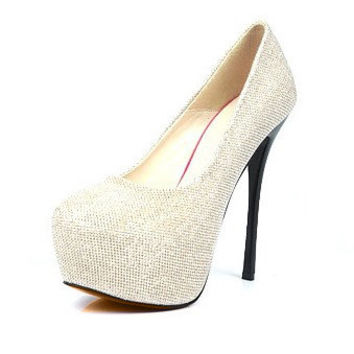 Bling Womens Stiletto High Heels Platform Classic Pumps Shoes Sexy Party 1lz