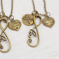 pinky promise necklace, sister forever necklace, matching necklace, best friend, friendship, custom gift, sister necklace, infinity necklace