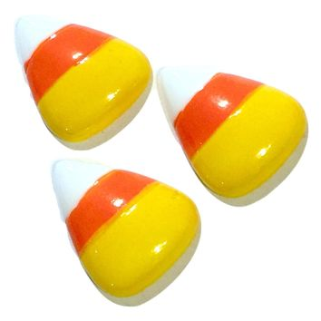 Candy corn resin cabochon 26x21mm / 1-5 pieces