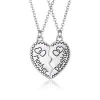 New fashion mother daughter pendant necklace sliver plated couple necklaces long necklace best family gifts love jewerly