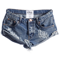 One Teaspoon || Bandits cut-off shorts in Pacifica