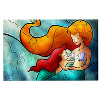 "Mandie Manzano ""I Remember Love"" Mermaid Decorative Door Mat"