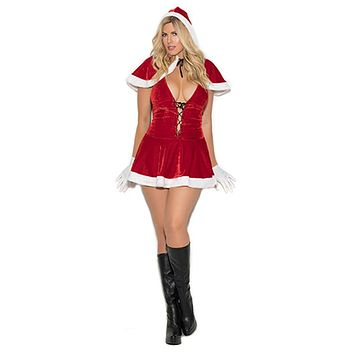 Sexy Plus Size Happy Holidays Mrs Claus Costume