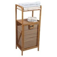 Household Essentials® Laundry Hamper with Storage Shelves - Bamboo : Target