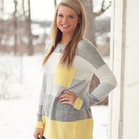 Block Party Oversized Sweater in Sunshine Yellow
