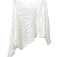 Sexy Hollow Out Pullover with Slant-Cut Bottom
