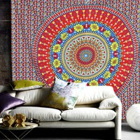 Mandala Bohemian Yoga Wall Queen Bed Boho Tapestry
