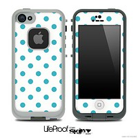 Polka Dotted Blue and White V3 Skin for the iPhone 5 or 4/4s LifeProof Case