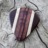 Handmade Multi-Wood Premium Guitar Pick - Jazz Stubby - Actual Pick Shown No Stock Photos