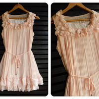 Wink Heart Dress Pastel In Autumn by LovelyMelodyClothing