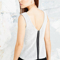 BDG Zip-Back Tank in Carbon - Urban Outfitters