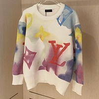 Louis Vuitton LV knitted jacquard round neck long-sleeved sweater