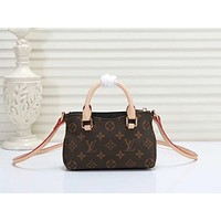 LV Louis Vuitton MONOGRAM CANVAS NANO PALLAS INCLINED SHOULDER BAG
