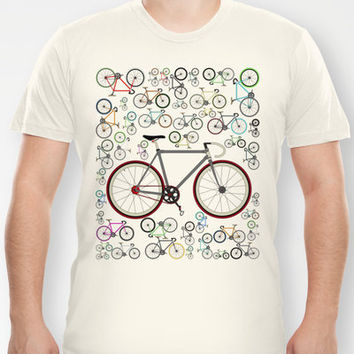 Love Fixie Road Bike T-shirt by Andy Scullion | Society6