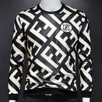 Fendi New fashion more letter print long sleeve top sweater