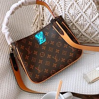 Bunchsun LV Bag Louis Vuitton Double locks with leather locks-double locks