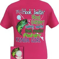 Girlie Girl Originals Funny Hook Baitin Fast Reelin Fishin Kinda Girl Fish Bright T Shirt