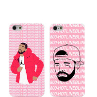 Poor Crying Drake Hard Cover Back Case for iPhone4 4s 5 5s 5c 6 6s Plus Hotline bling if you are reading this please buy my case